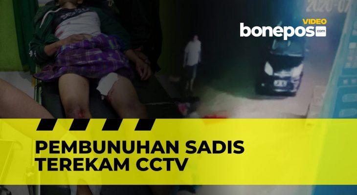 Sadis! Video Detik-detik Pembunuhan Pemuda di Bone yang Terekam CCTV