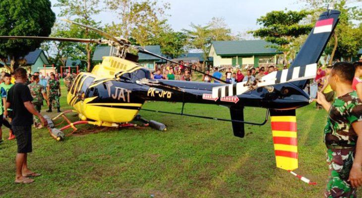 Mendarat Darurat di Jeneponto, Begini Kondisi Helikopter PT. Jhonlin