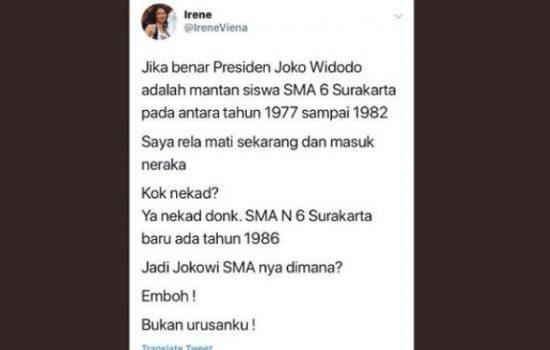 Presiden Jokowi di Tuding Bohong, Cewek Ini Berani Rela Mati