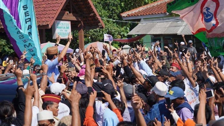 Antusias warga Banten sambut cawapres, Sandiaga Uno - BONEPOS.COM