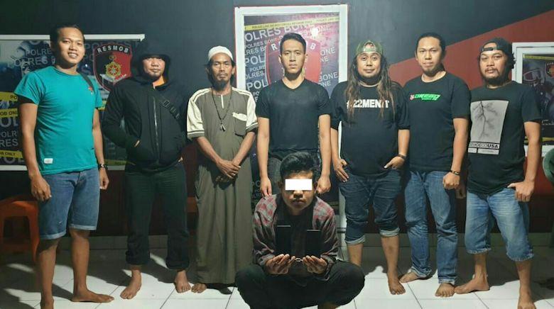 Terduga pencuri di salah satu Mesjid di Kecamatan barebbo Kabupaten Bone - BONEPOS.COM
