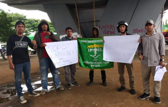 Gelar Aksi Unjuk Rasa di Polda Sulsel, Ini Tuntutan PB IPMIL