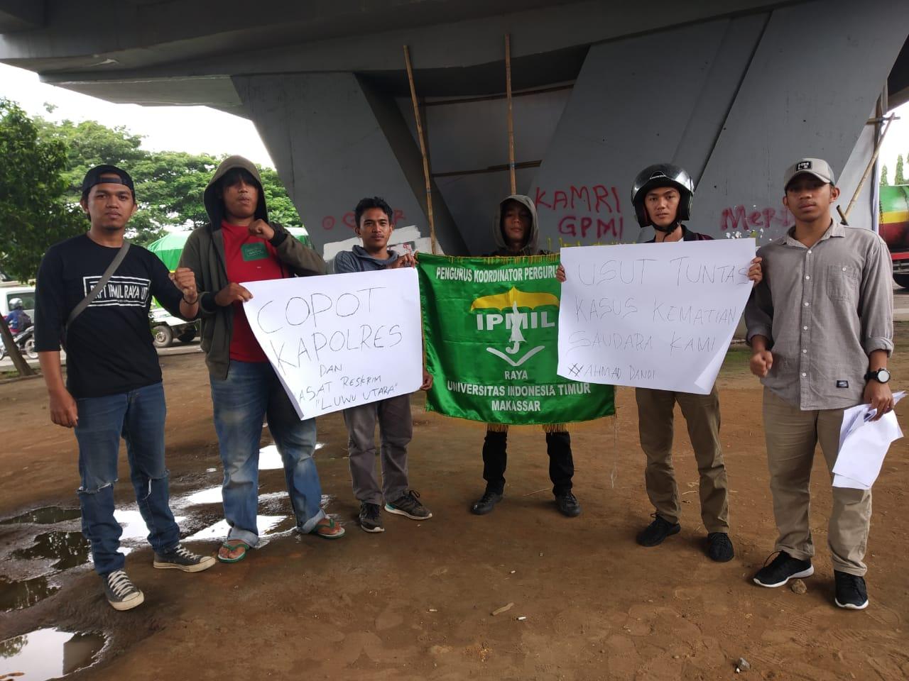 Aksi Unjuk Rasa PB IPMIL di Polda Sulsel