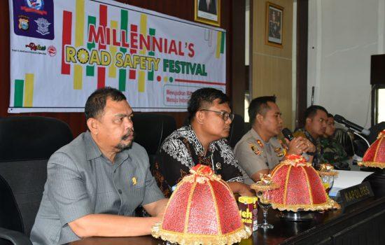 Rakor Pelaksanaan Millenial's Road Safety Festival, Ini Harapan Ketua DPRD Sinjai