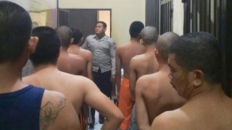 Aktivitas tahanan Polres Gowa