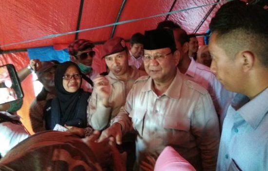 Dihadapan Warga Palu, Prabowo Singgung Kelakuan Pejabat yang Korupsi Bantuan Bencana Alam