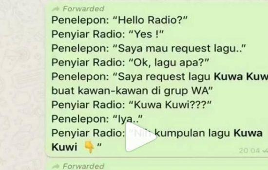 Viral di Indonesia, Lagu Kuwa Kuwi Receh Banget Kuy !