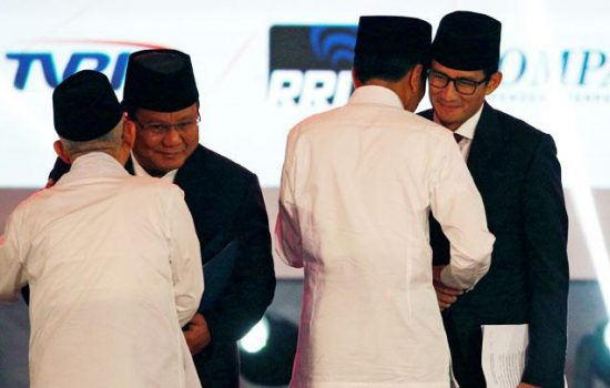 Survei Puskaptis: Prabowo-Sandi Unggul dari Jokowi-Ma'ruf di Sulawesi