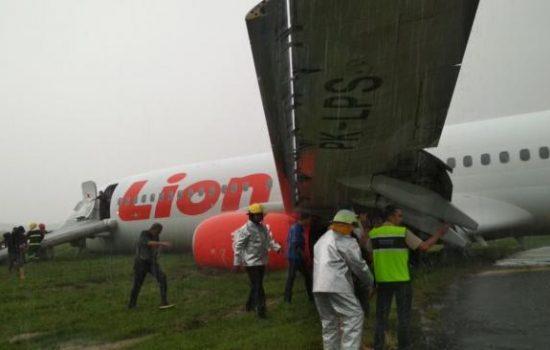 Pesawat Lion Air Tergelincir di Pontianak