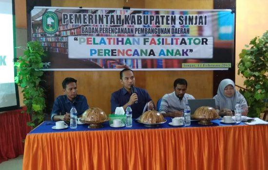 Latih Fasilitator Perencana Anak, Ini Harapan Kepala Bappeda Sinjai