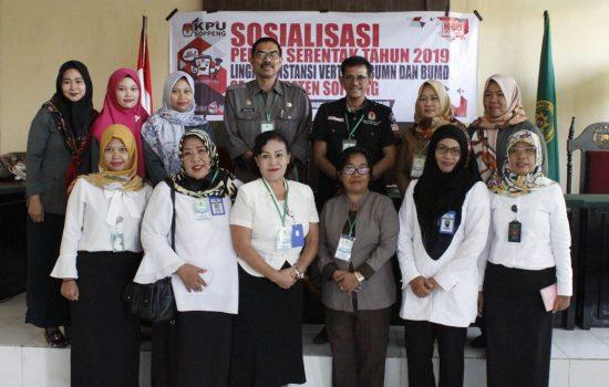 KPU Soppeng Gencar Melakukan Sosialisasi Menjelang Pemilu 2019