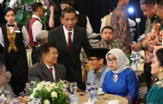Sandiaga Uno Hadiri Resepsi Pernikahan Sadli IYL-Emma