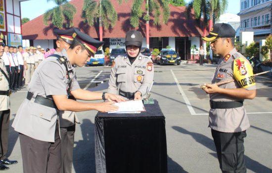 Polres Gowa Gelar Upacara Serah Terima Jabatan 4 Perwira