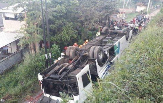 Kecelakaan Maut Bus Kramat Jati di Bypass Cicalengka Bandung