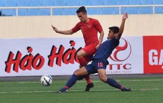 Timnas U-23 Indonesia Dihajar Thailand 4-0