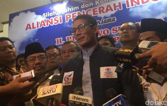 Sandiaga Uno Tak Kenal Keluarga Uno yang Dukung Jokowi