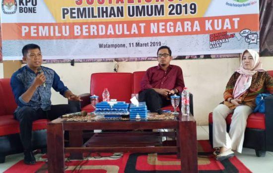 KPU Bone Bersama KPM Gelar Sosialisasi Pemilu 2019