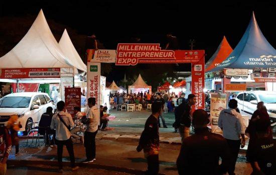 Satlantas Polres Bone Gelar Millenial Entrepreneur Expo, Begini Kemeriahannya