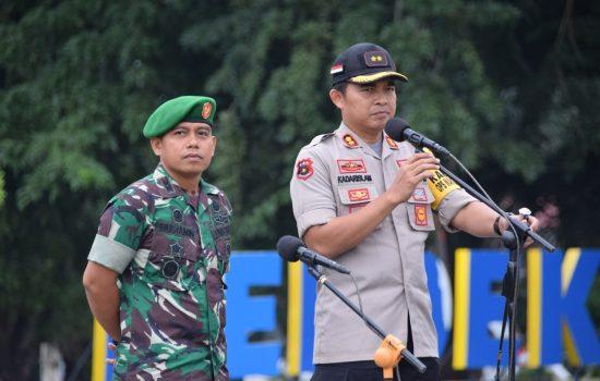 Apel Gelar Pasukan Ops Mantap Brata Pam Pemilu 2019 Polres Bone