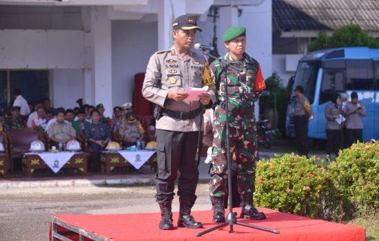 Kesiapan Pengamanan Pemilu 2019, Polres Sinjai Gelar Pasukan dan Apel Besar Potmas