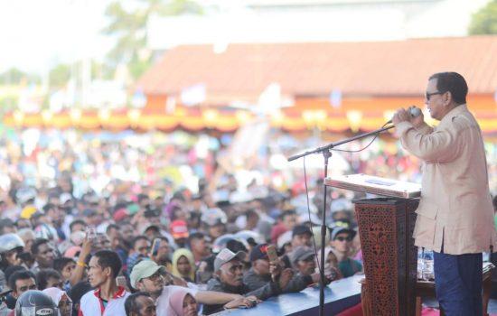 Prabowo Ungkap Pesan Orangtuanya Dihadapan Masyarakat Papua