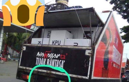 Mobil Sampah Tangkasaki Pemkot Makassar Digunakan Angkut Logistik Kotak Surat Suara Pemilu 2019