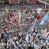 Foto: Prabowo Dikepung Massa Saat Kampanye di Kota Makassar