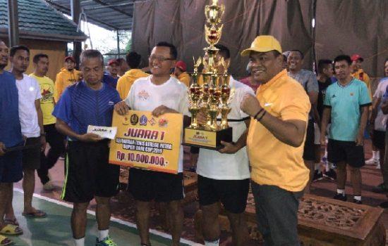 Tim Kodam Hasanuddin Sabet Juara 1, Turnamen Tenis Bupati Cup 2019