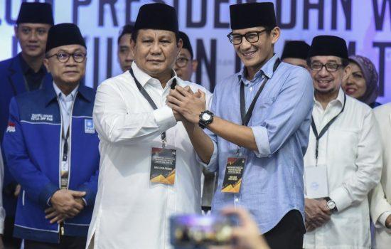 Keluarga Uno Dukung Jokowi, Elektabilitas Prabowo – Sandi Semakin Naik