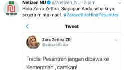 Tagar #ZaraZettiraHinaPesantren Jadi Trending Topic