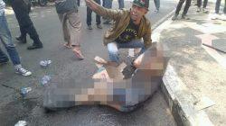 Miris, Kawal Aksi Polisi di Cianjur Terbakar