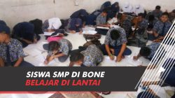 VIDEO: Miris, Siswa SMP di Bone Belajar di Lantai