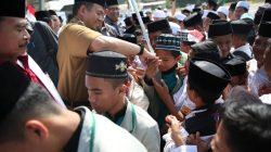 Semarak HSN 2019 Di Makassar, 3 Ribu Santri Takbir Akbar