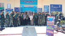 Ultah TNI Ke-74, Polres Lutra Bagi-bagi SIM Gratis