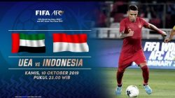Timnas Indonesia vs UEA di Kualifikasi PD 2022, Ini Selengkapnya