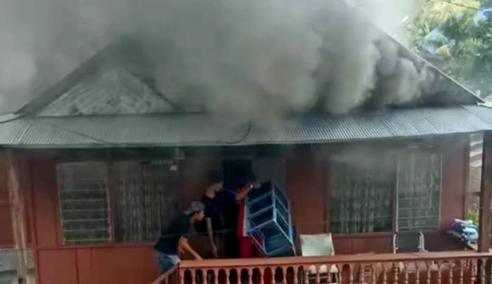 Rumah di Jalan Pahlawan Sengkang Terbakar, Ini Dugaan Penyebabnya