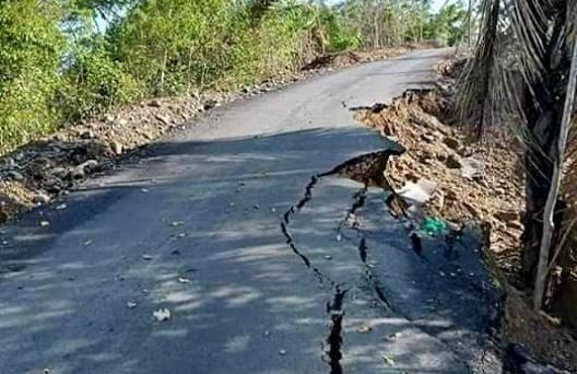 Proyek Jalan Rp24 M Ambles, PT Lompulle: Memang Tidak Ada Talud