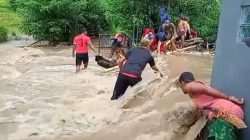 Hujan Lebat, Personel BPBD Turun Siaga Banjir di Lokasi Ini
