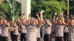 Soal Kesehatan Personel, Danyon Ichsan Gelorakan Senam AW S3
