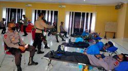 Aksi Massal Brimob Bone Sumbang Darah di Tengah Covid-19