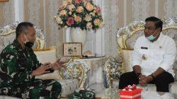Pertemuan Khusus Danrem Djashar-Bupati Fahsar Penuh Kehangatan, Ini Agendanya