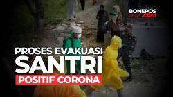 VIDEO: Detik-detik Tim Medis Evakuasi Santri Positif Corona di Bone Sulsel