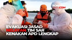 Evakuasi Jasad Nelayan Tenggelam di Sungai, Tim SAR Kenakan APD Lengkap