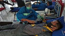 Semarak HUT Bhayangkara ke-74, Pejabat Bapas Ramai-ramai Sumbang Darah