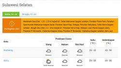 Prakiraan Cuaca Hari Ini 4 Juli 2020, Sebagian Wilayah di Sulsel Berawan