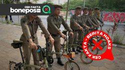 [CEK FAKTA] Anggota Satpol-PP Kota Makassar Pakai Sepeda Seharga Rp 100 Juta