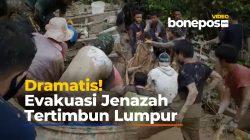 Dramatis! Evakuasi Jenazah dari Dalam Mobil Tertimbun Lumpur di Lutra