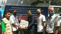 Bentuk Cinta Unismuh Makassar untuk Korban Banjir di Wajo