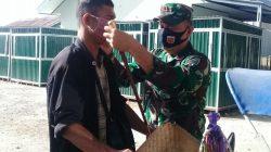 Dandim Budiman Hadirkan Posko Pembagian Masker Gratis