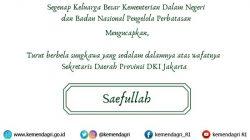 Sekda DKI Jakarta Meninggal Dunia, Keluarga Besar Kemendagri dan BNPP Berduka Cita